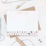 bright alphabet stationery for kids