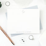 monogrammed stationery sets personalized for newlyweds and couples