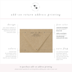 return address printing for personalized stationery • penny luck paperie