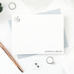 custom monogram stationery sets for personalized wedding gifts