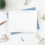 custom stationery personalized with last name