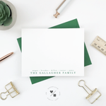 personalized note cards customized with last name