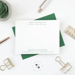 personalized note cards customized for family