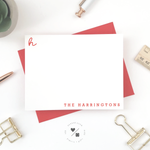 customizable monogram notecards with family name personalization