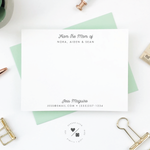 personalized stationery notecards for mom
