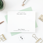 personalized stationery notecards for dad