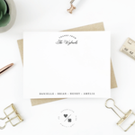 customizable family stationery