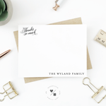 customizable family thank you cards