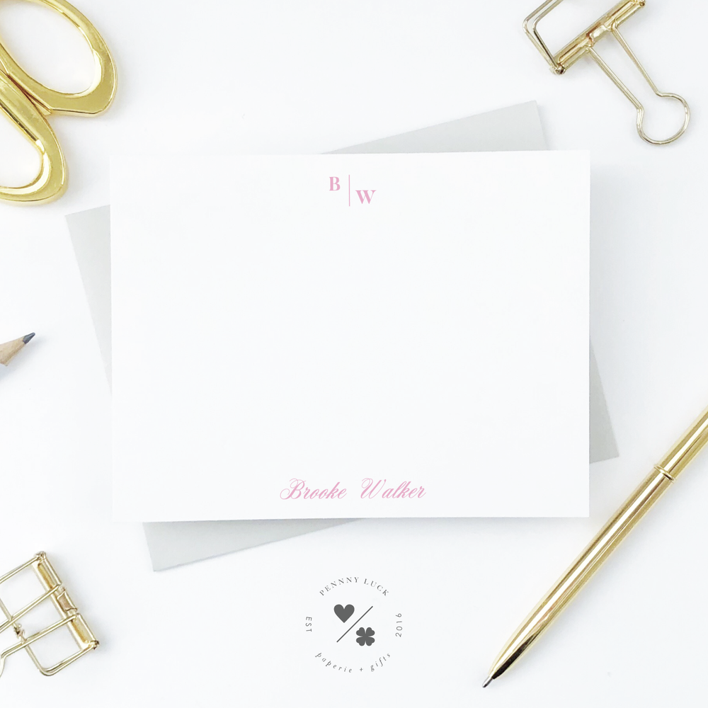 personalized stationery sets for women