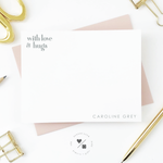 modern stationery notecard set