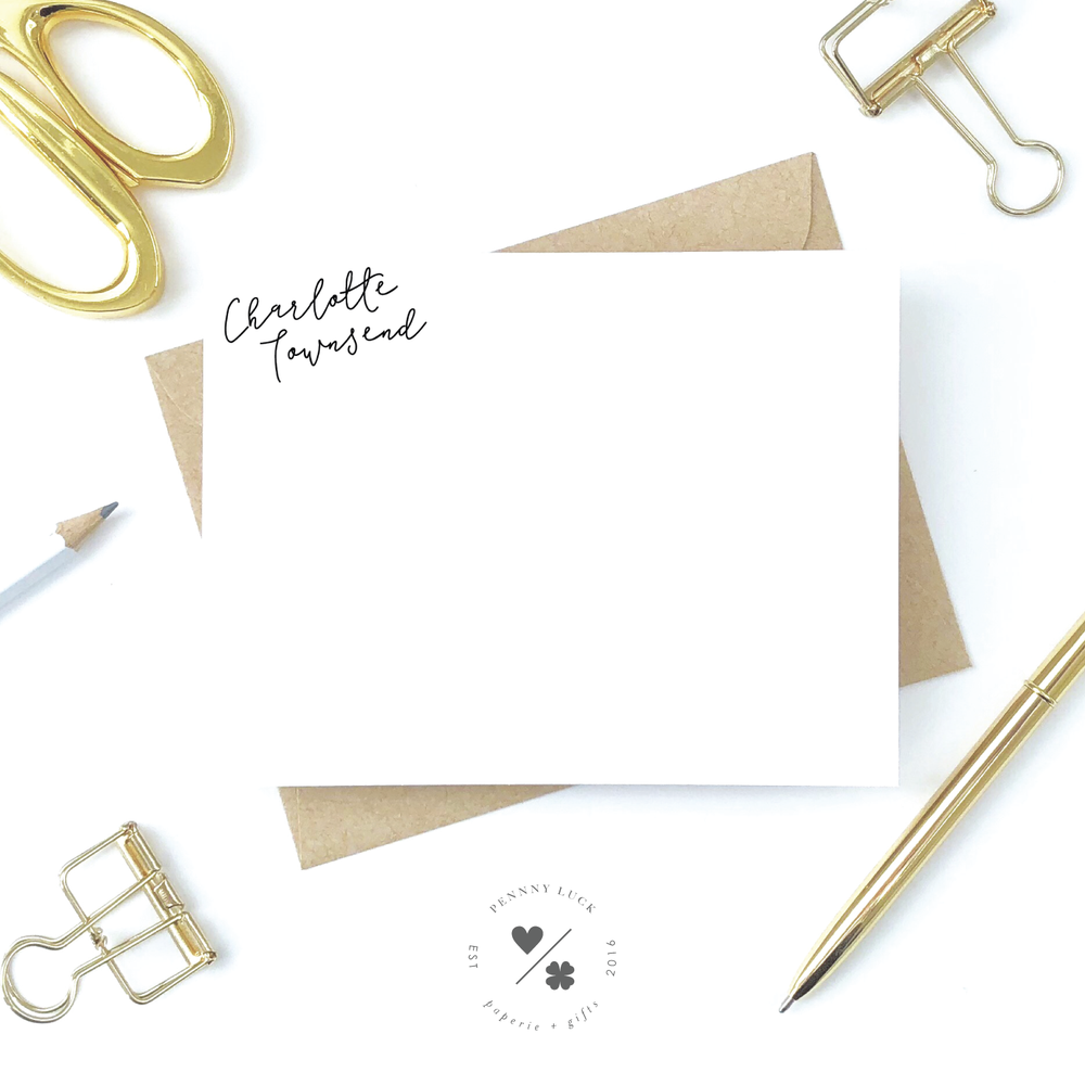 personal stationery notecards and coordinating envelopes for women