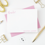 custom thank you notecard sets for women