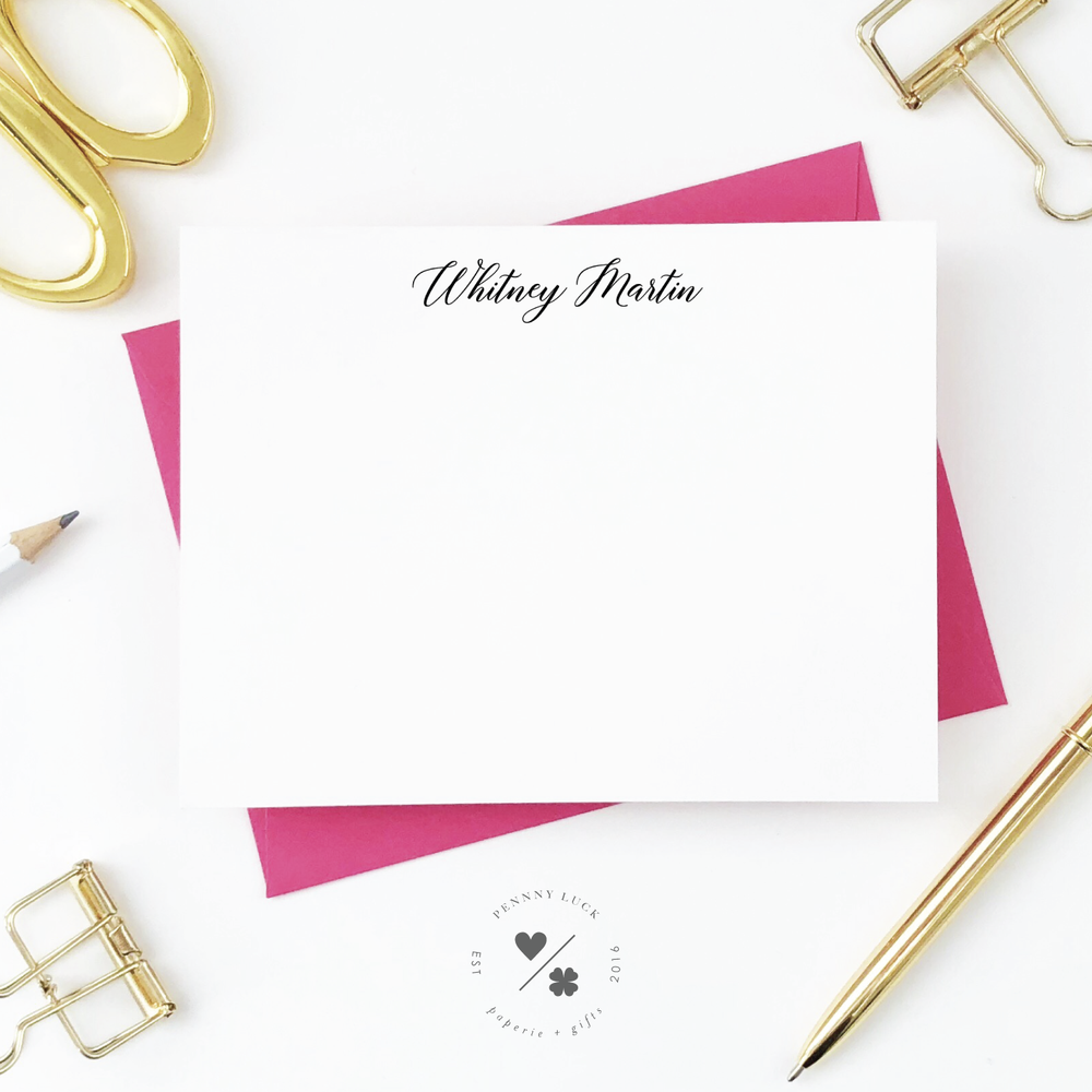 custom personal stationery set for her