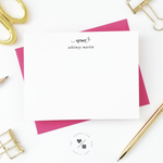 monogram custom personal stationery set for her