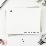 traditional monogram stationery sets personalized for him