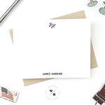 boxed monogram stationery sets for him