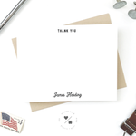 thank you stationery set personalized for him