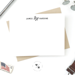monogram custom personal stationery set for him