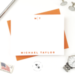 modern stationery notecard set for him