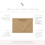 return address printing for mensmodern stationery • penny luck paperie