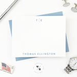 mens affordable monogrammed personalized stationery