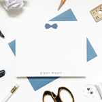 star bow tie custom stationery for kids