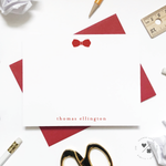 solid bow tie custom stationery for kids