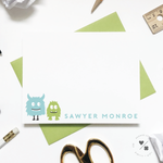 monsters custom stationery for kids
