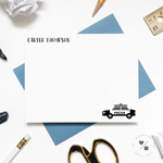 police car custom thank you cards and stationery sets for children