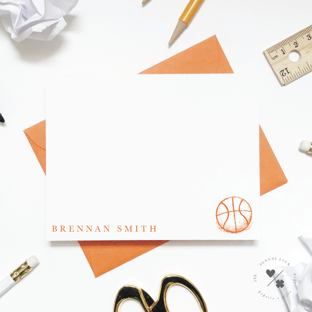 Kids Stationery • Basketball Sketch