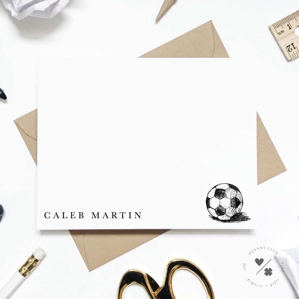 soccer stationery sets personalized for kids
