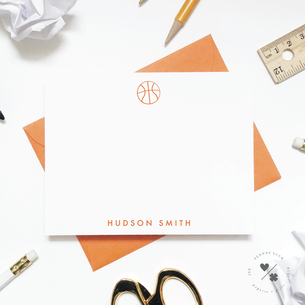 Kids Stationery • Basketball