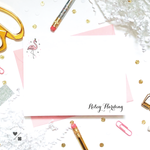 Kids Stationery • Crowned Flamingo