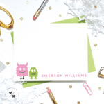 personalized monsters stationery for kids