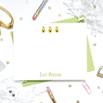 pineapple emoji girly stationery