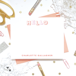 fun personalized typographic note cards for kids