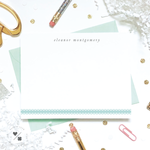pretty preppy personalized stationery set for girl