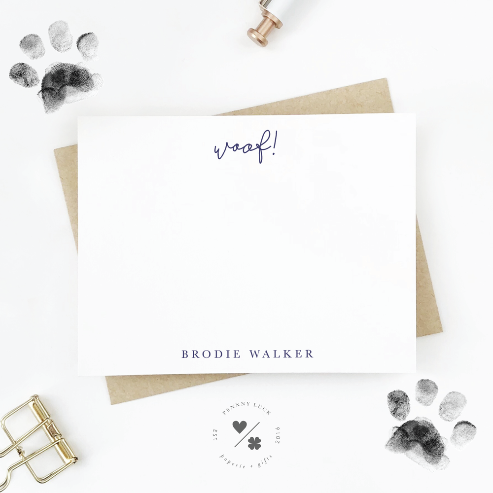 new dog gift custom stationery