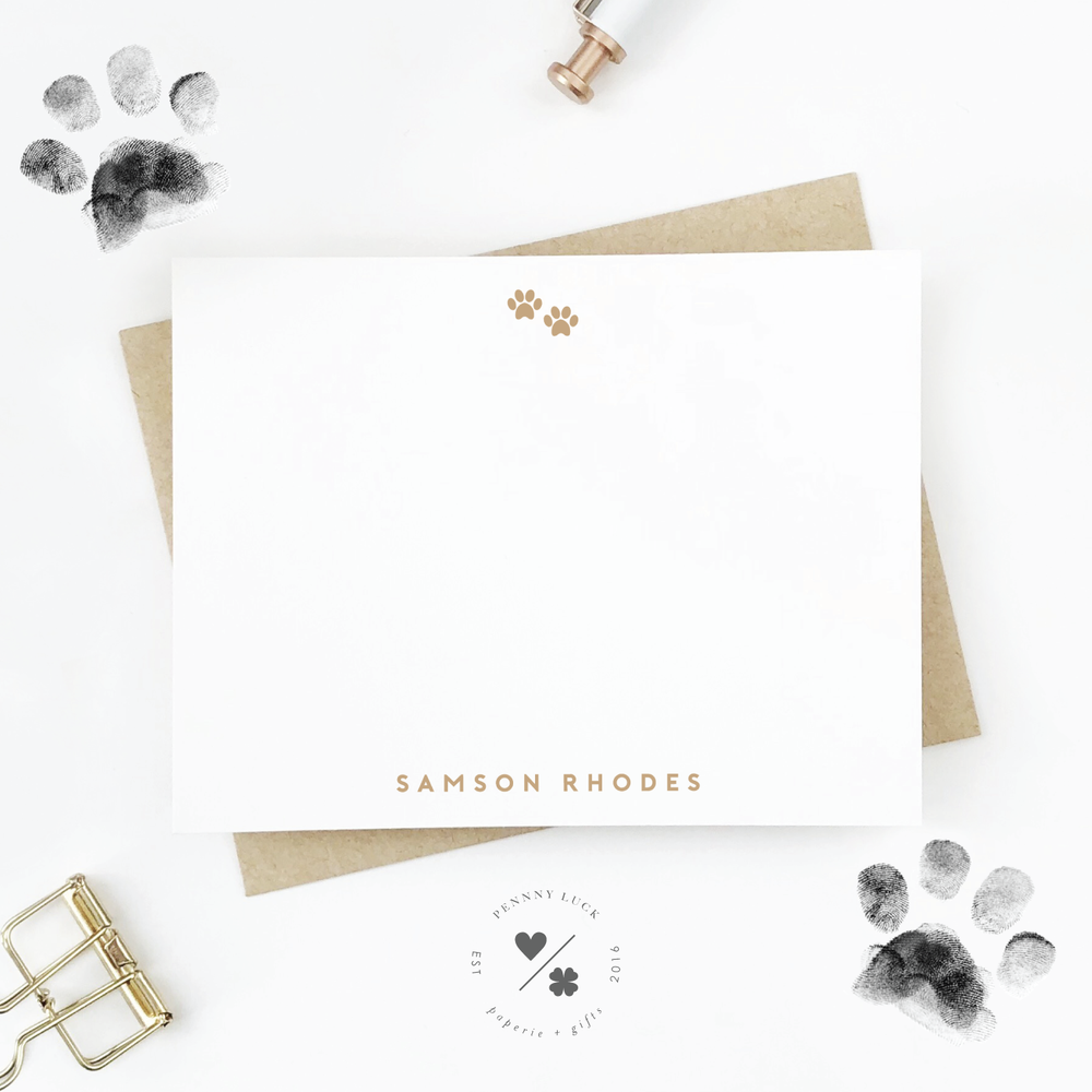 Pets Stationery • Paw Prints