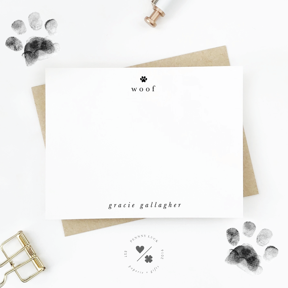 Pets Stationery • Woof Paw