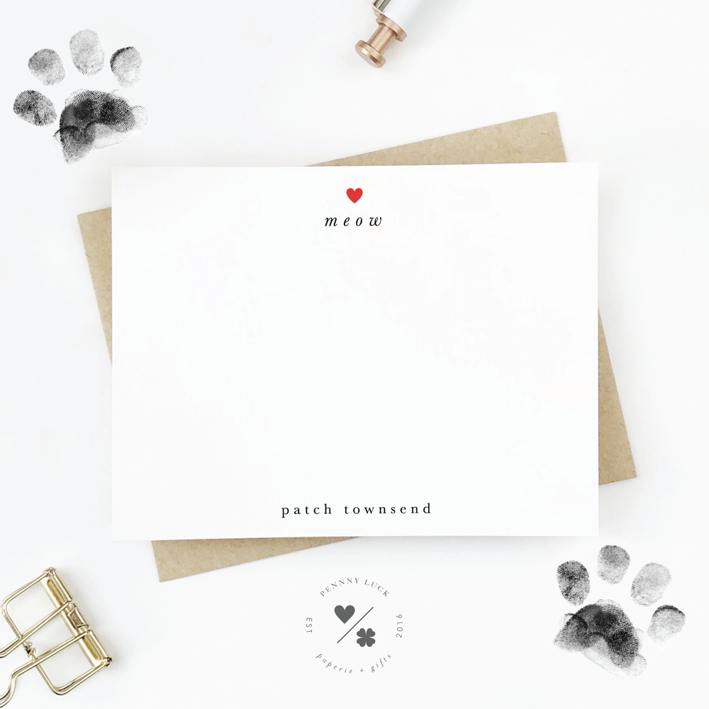 Pets Stationery • Meow Heart