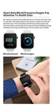 SENBONO HW07 1.54inch Screen Smart Watch support Bluetooth Call SOS Temperature Smartwatch