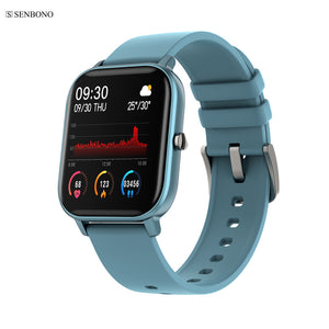 SENBONO Hot sales P8 sport smart watch support weather call SMS waterproof