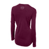 Merino Wool Women's Long Sleeve Top | Crew Neck Shirt | Deep Plum