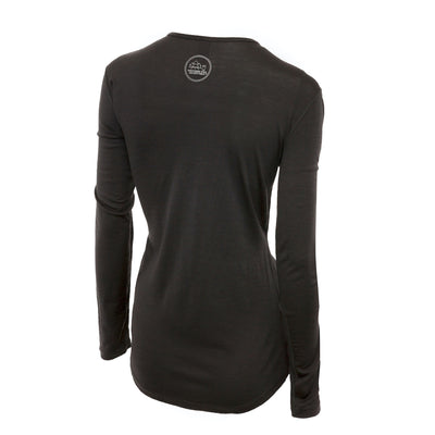 Merino Wool Women's Long Sleeve Top | Crew Neck Shirt  | Grey