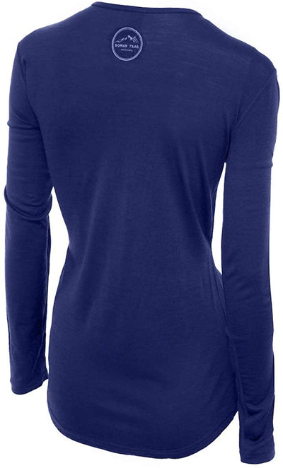 Merino Wool Women's Long Sleeve Top | Crew Neck Shirt
