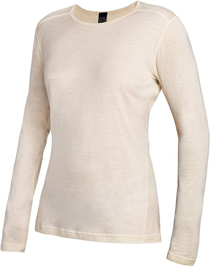 Moisture Wicking Lightweight Base Layer Roman Trail Outfitters Merino Wool  Womens Long Sleeve Top |Crew Neck Shirt Active Base Layers Clothing, Shoes  & Jewelry
