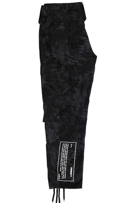 charcoal Camo Cargo Pants - White Community Print
