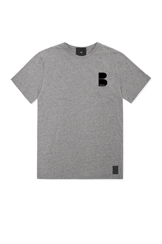 Grey T-shirt - Happy Face Print