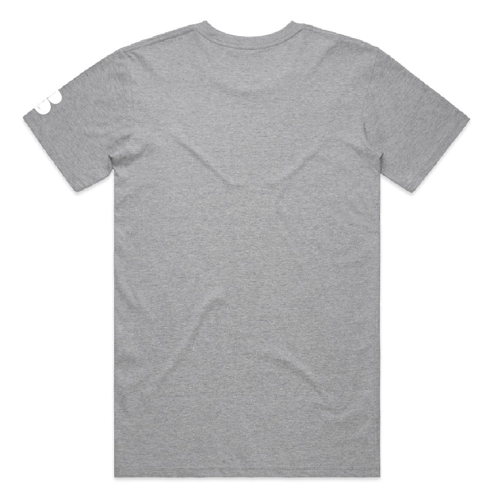 Bionic  Grey T-Shirt - White Graffiti Print